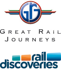 Great Rail Journeys and Rail Discoveries logos