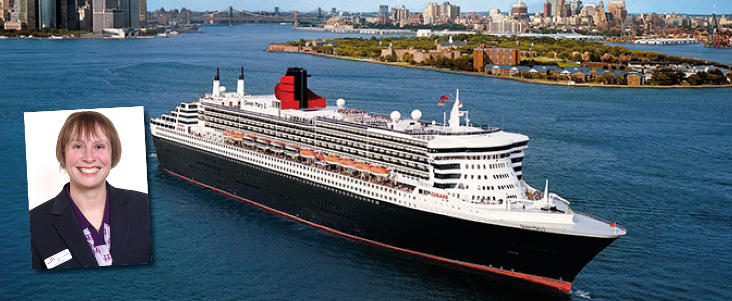 Jo Alexander on Queen Mary 2