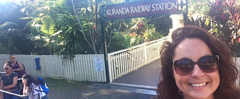 Beth at Kuranda station