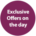 Exclusive offers on the day