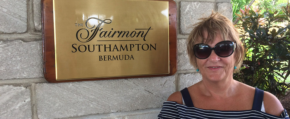 Sharon at the Fairmont Southampton