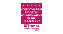 TTG Top 50 Best Escorted Touring Agency in the UK & Ireland